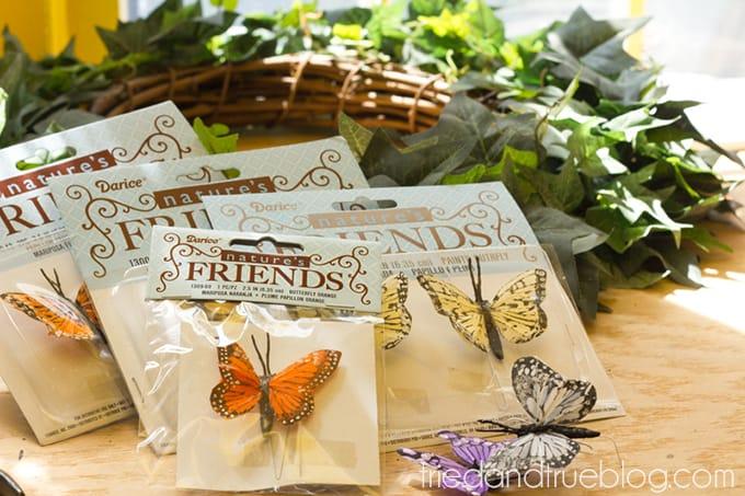 Spring Butterfly Wreath DIY - Butterflies