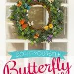 Spring Butterfly Wreath DIY