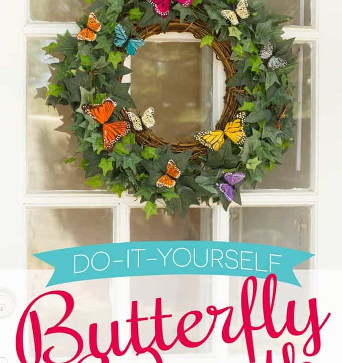 Make this colorful Spring Butterfly Wreath DIY to welcome your guests! Super easy and able to withstand all types of weather!