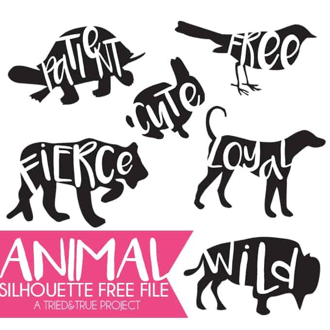 Animal Silhouette Files – SVG