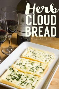 This gluten-free Herb Cloud Bread Appetizer is super easy to make and pairs wonderfully with wine!