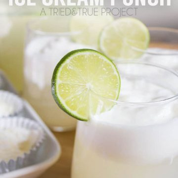 This Brazilian Lemonade Ice Cream Punch is crazy easy to make and delicious on a hot day!