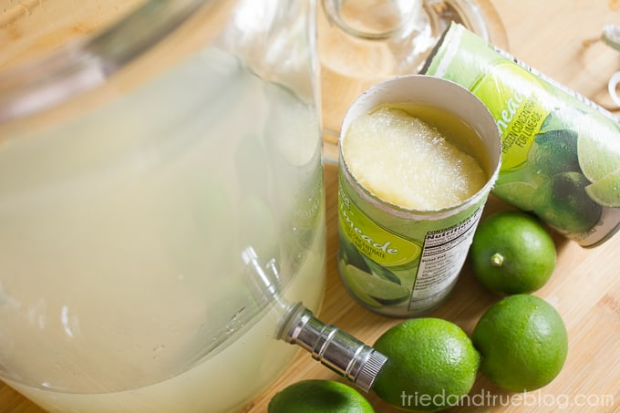 Brazilian Lemonade Ice Cream Punch - Lemonade