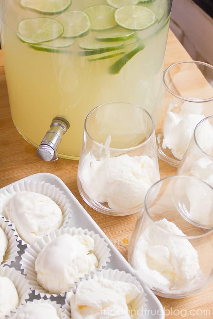 Brazilian Lemonade Ice Cream Punch - Ice Cream