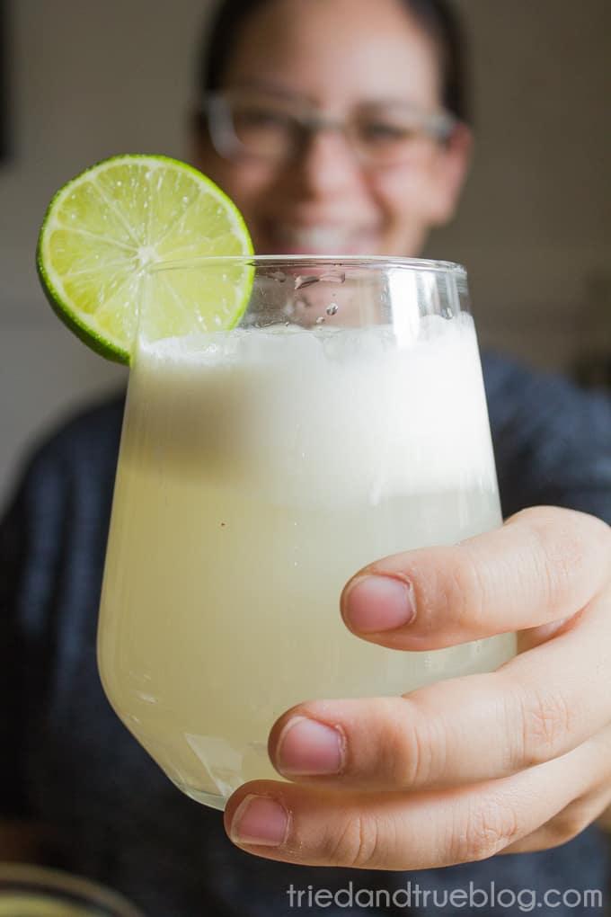 Brazilian Lemonade Ice Cream Punch - Happy