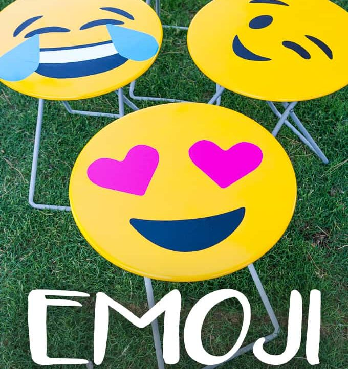 These Emoji Folding Tables are super easy to make with the included free files!