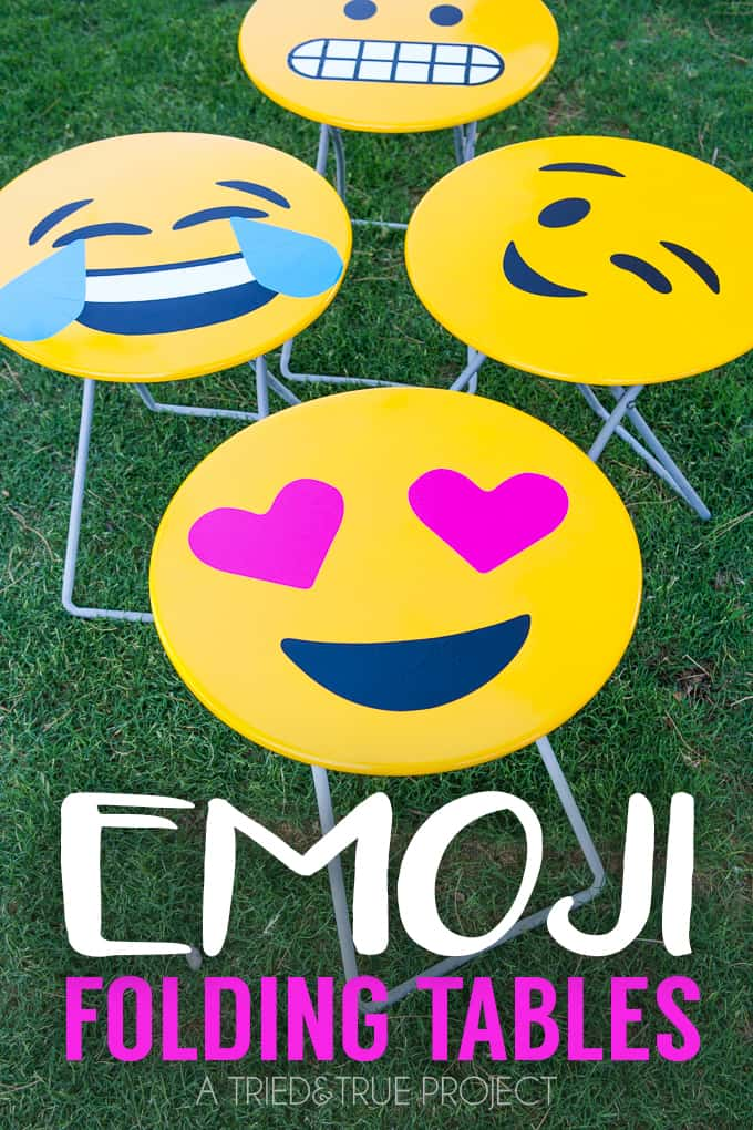 Emoji Folding Side Tables DIY