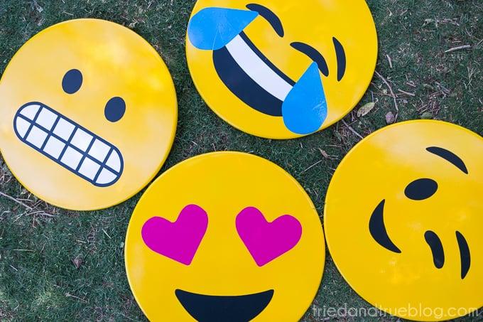 Emoji Side Table DIY - Tops