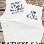 Father's Day Matching Aprons