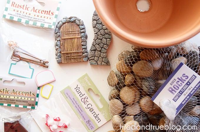 Magical Fairy Garden Planter - Supplies