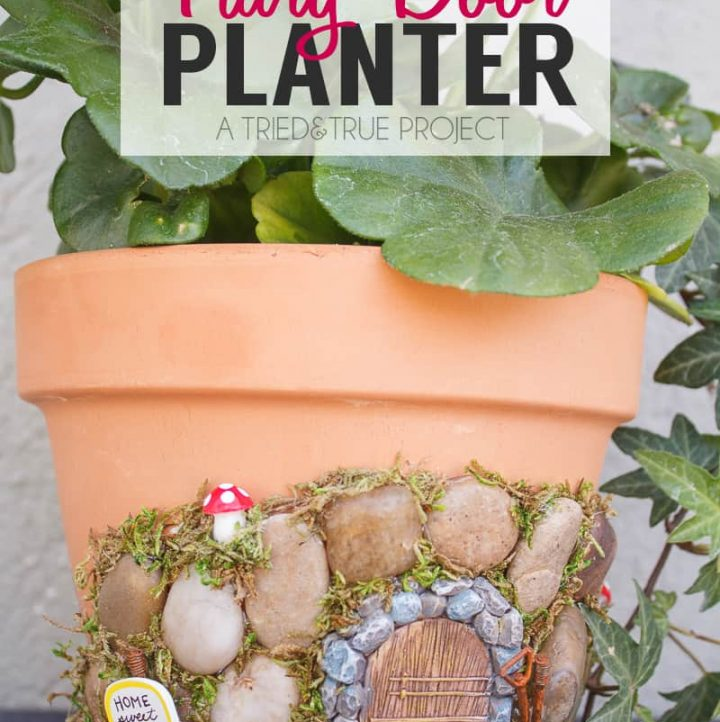 This Magical Fairy Garden Planter combines the whimsy of a fairy garden with the practicality of a standard planter!