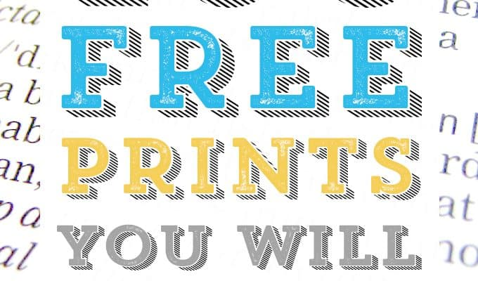 100 Free Printables You Will Love!