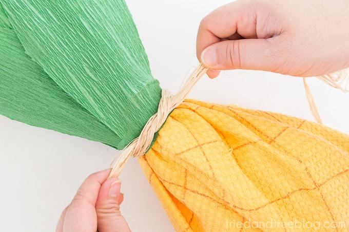 Creative Pineapple Hostess Gift - Raffia