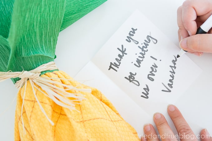 Creative Pineapple Hostess Gift - Sign