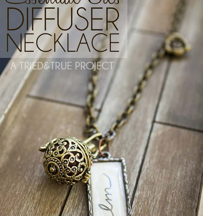 Love essential oils? Make this super easy Essential Oils Diffuser Necklace to carry your love with you all the time!