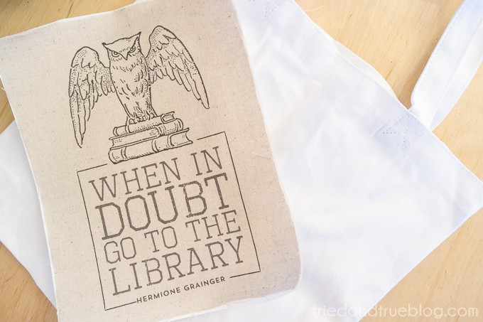 Harry Potter Library Bag - Print
