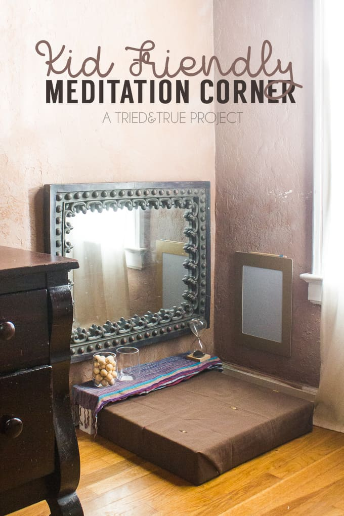 Putting together a Kid-Friendly Meditation Corner is a great way to introduce calming practices to small children. Great for adults as well!