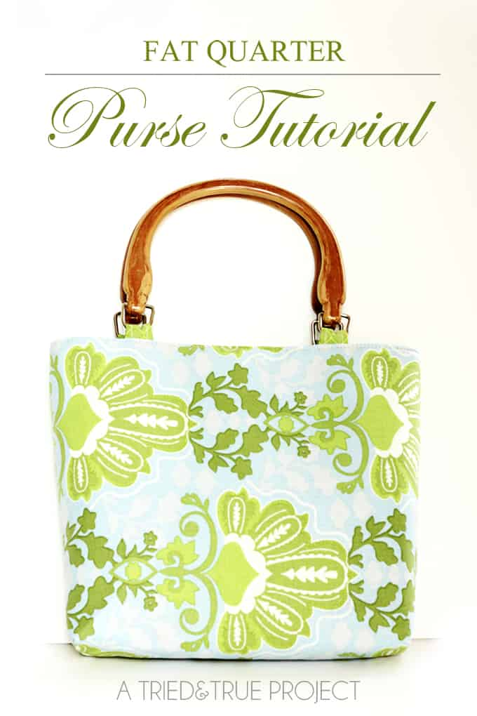 Use this detailed tutorial and free pattern to make an adorable purse with just a couple fat quarters of fabric!