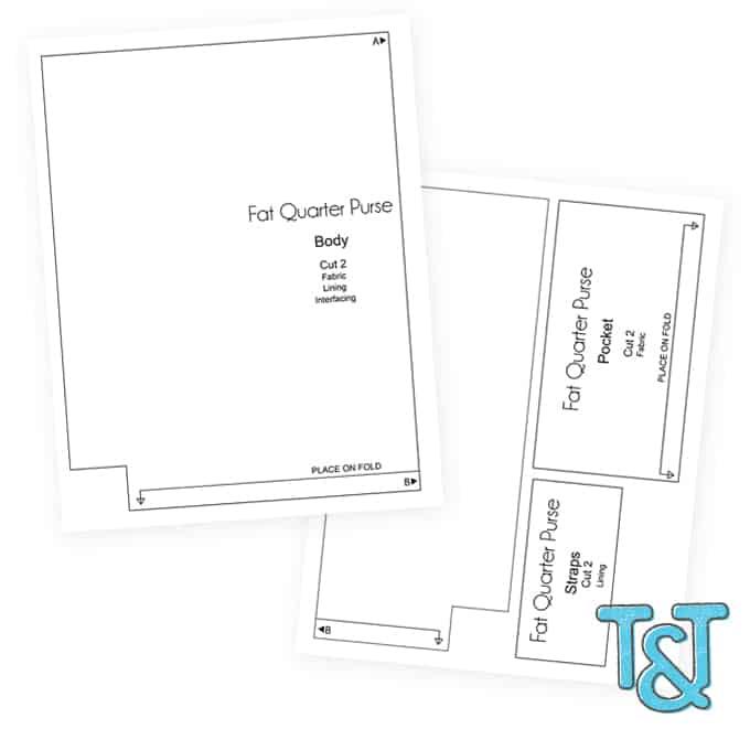 Fat Quarter Purse Tutorial & Pattern - Print