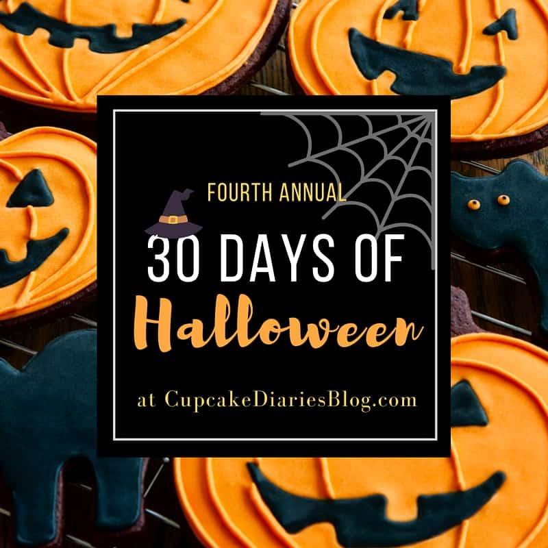 30 Days of Halloween 2016 at CupcakeDiariesBlog.com