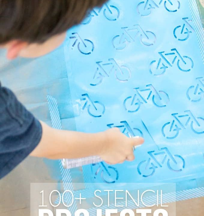 Check out this HUGE list of 100+ stencil crafts and projects. From holidays to home decor to diy, there's something for everyone!