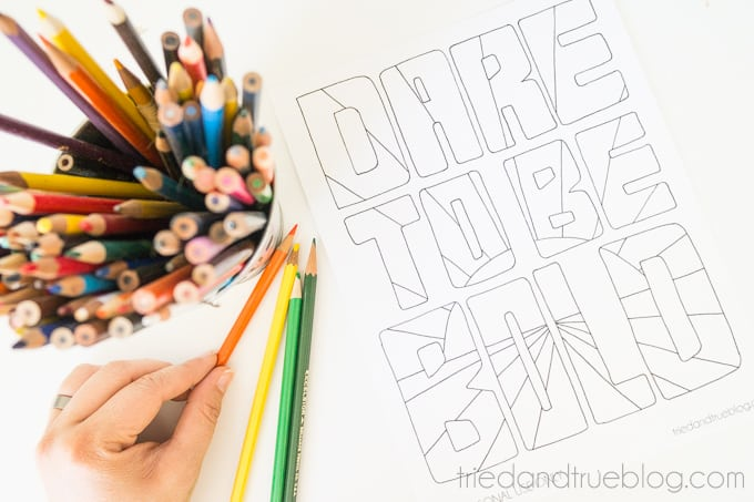 Be Brave Free Coloring Page - Print