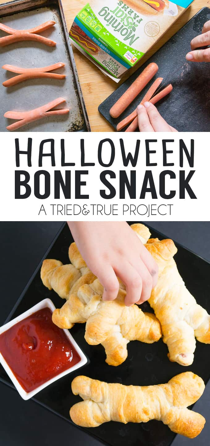 Make this super easy After School Halloween Snack Bones for the little monsters in your life!