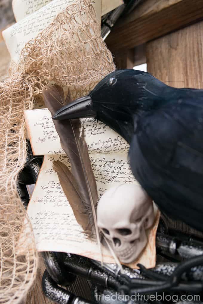 The Raven Halloween Wreath - 02