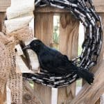 The Raven Halloween Wreath