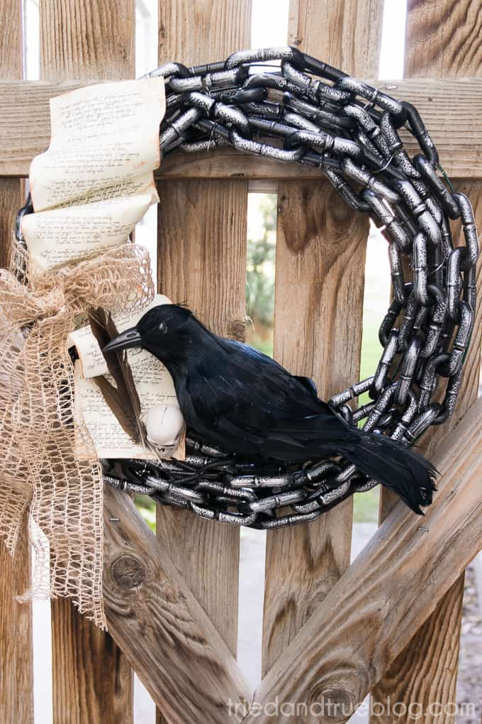 The Raven Halloween Wreath - 03