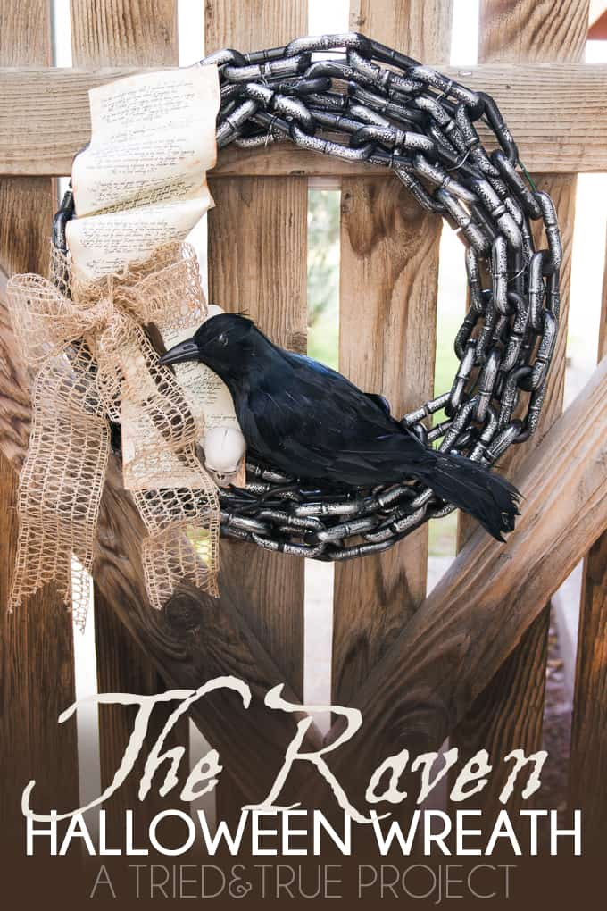 Celebrate Poe's classic tale with The Raven Halloween Wreath. Easy to customize and make your own!
