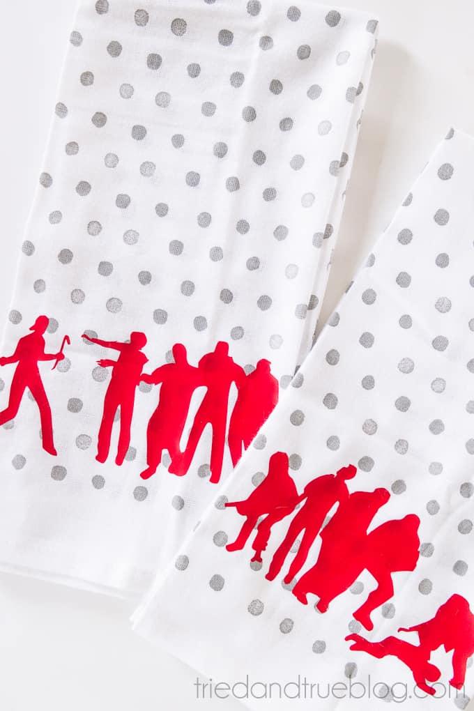 Zombie Halloween Dish Towels - Zombies