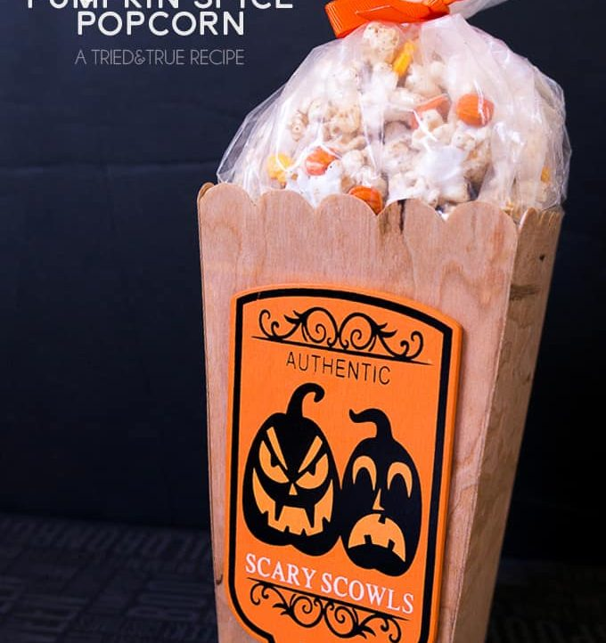 Need a quick and easy Halloween treat for neighbors or friends? Make this Healthy Pumpkin Spice Popcorn in just minutes!