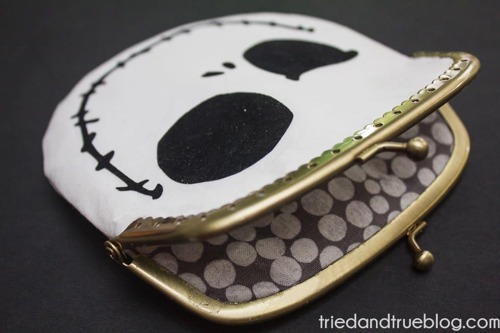 Jack Skellington Coin Purse Pattern - Open