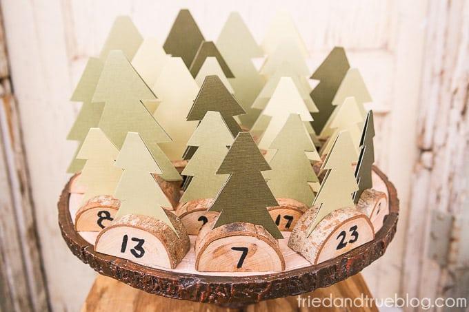 Christmas Tree Advent Calendar - Display