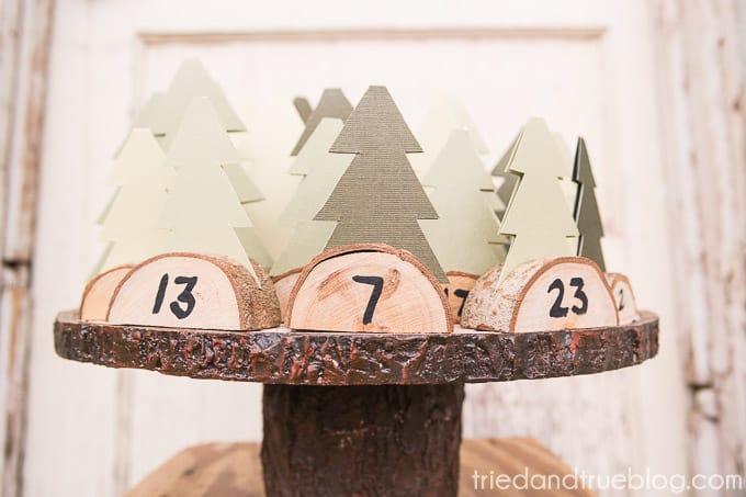 Christmas Tree Advent Calendar - Straight
