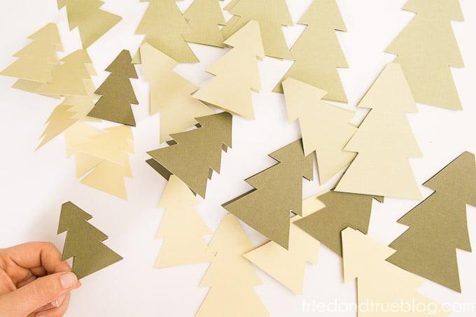 Christmas Tree Advent Calendar - Cut