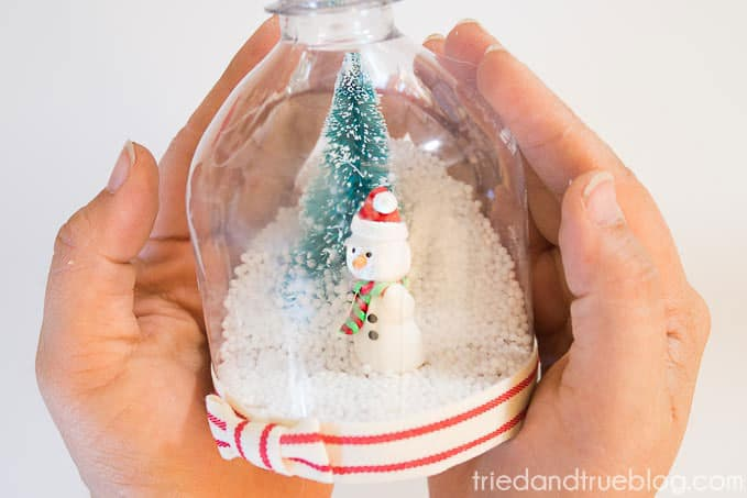 DIY Recycled Snow Globe - Shake