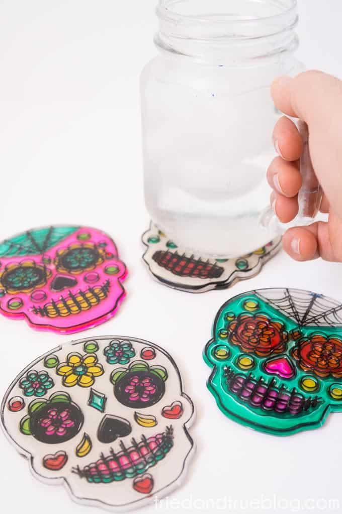 Dia De Los Muertos Coasters - Practical
