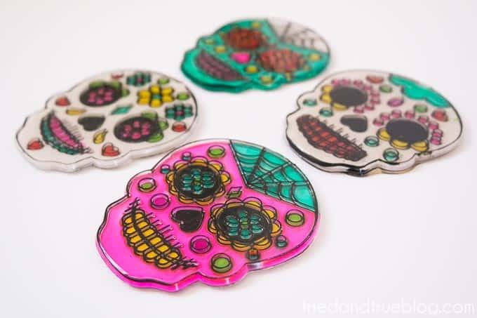 Dia De Los Muertos Coasters - Day of the Dead