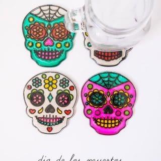 Dia de Los Muertos Coasters DIY