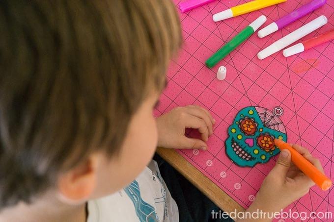 Dia De Los Muertos Coasters - Paint