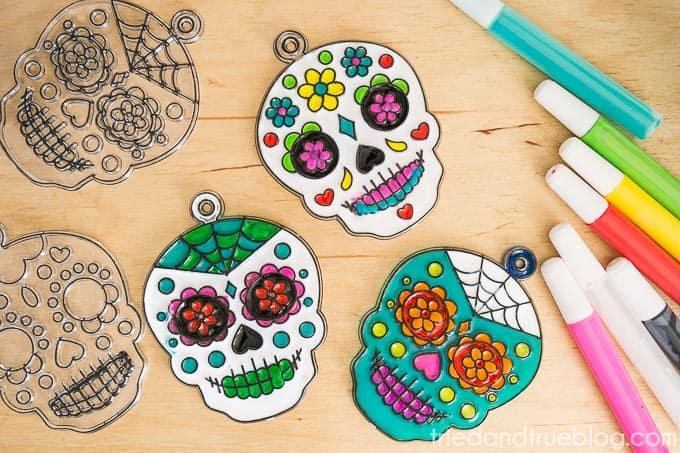 Dia De Los Muertos Coasters - Variety