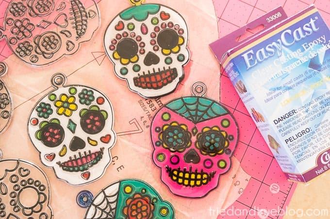 Dia De Los Muertos Coasters - Fill