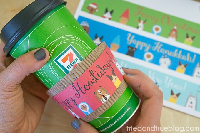 Dog Lovers Free Holiday Coffee Sleeves - Add