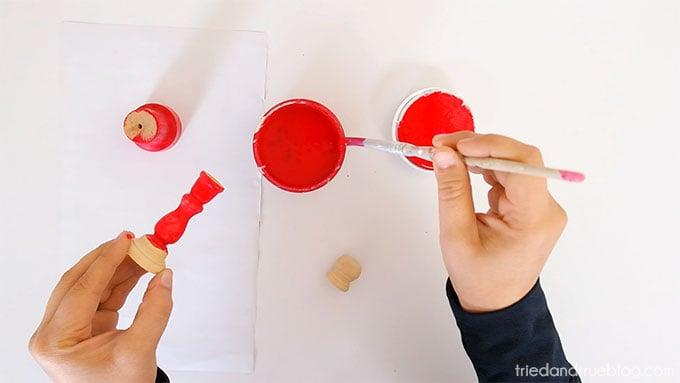 Handmade Holiday Candy Dish - Paint