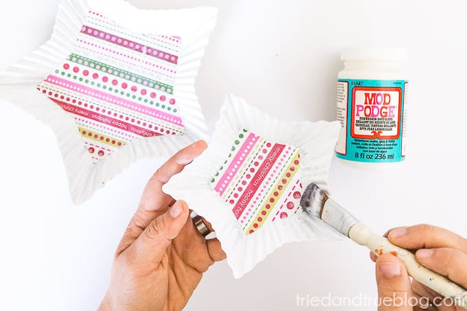 Handmade Holiday Candy Dish - Mod Podge