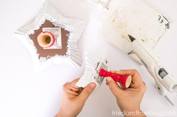 Handmade Holiday Candy Dish - Glue