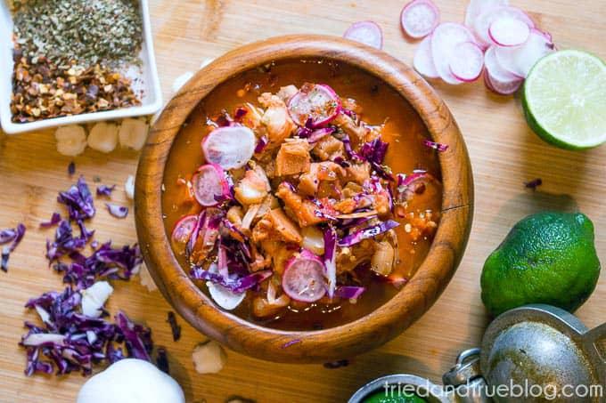 Instant Pot Vegan Posole - Garnish