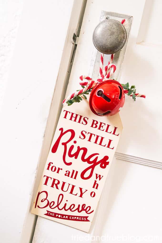 The Polar Express Bell Sign - Hang